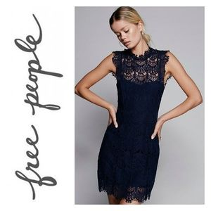 Free People Dresses - NWT Free People Navy Daydream Lace Dress